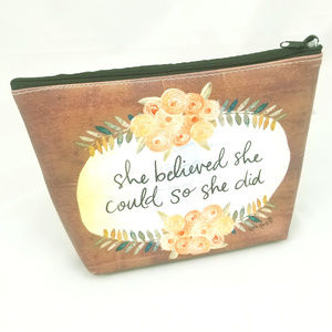 Handbags - she believed sentiment | cosmetic bag